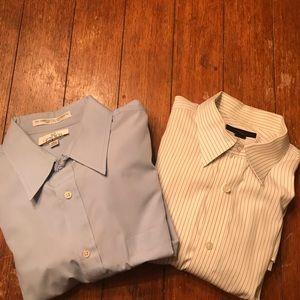 2 Different Button Down Dress Shirts XL